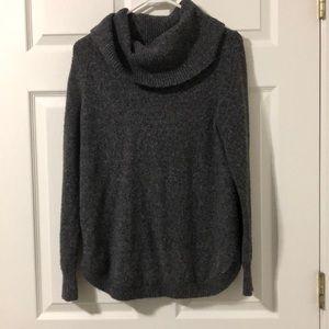 Tahari Cowl Neck Grey Sweater